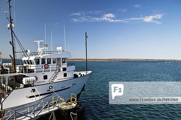 Amerika Küste Boot Verbindung Atlantischer Ozean Atlantik Massachusetts