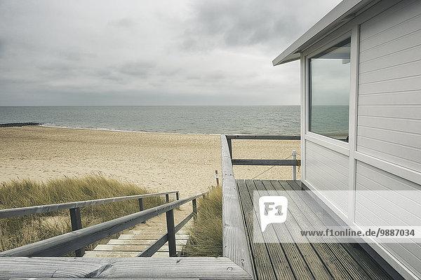 Strandhütte  Sylt  Schleswig-Holstein  Deutschland  Europa