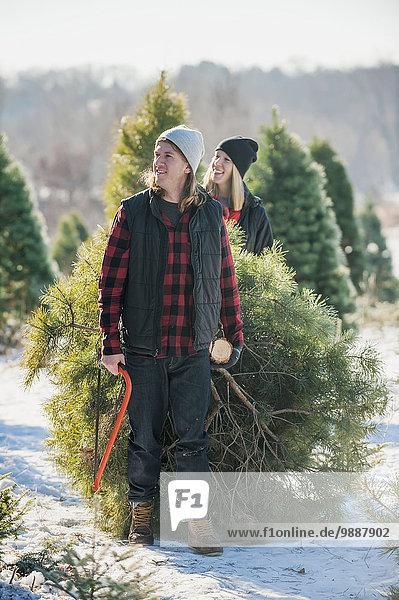 Frische schneiden Bauernhof Hof Höfe Weihnachtsbaum Tannenbaum auswählen Verbindung