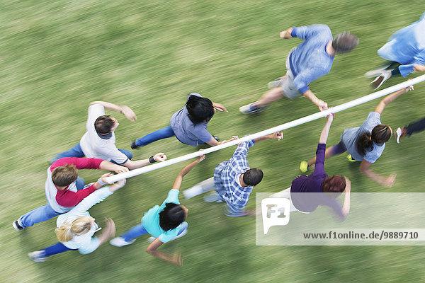 Teamwork,rennen,Stange,balancieren