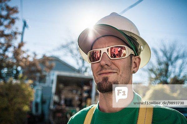 Porträt des Solarpanel-Installateurs