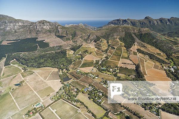 Südafrika  Kapstadt  Luftaufnahme des Tokai-Waldes