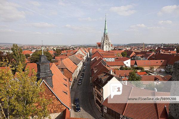 Deutschland  Thüringen  Mühlhausen  Stadtbild mit Marienkirche