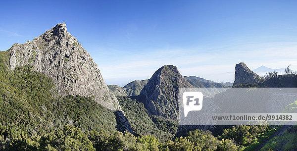 Vulkan Roque de Ojila  Roque de la Zarcita  Mirador de los Roques  La Gomera  Kanarische Inseln  Spanien  Europa