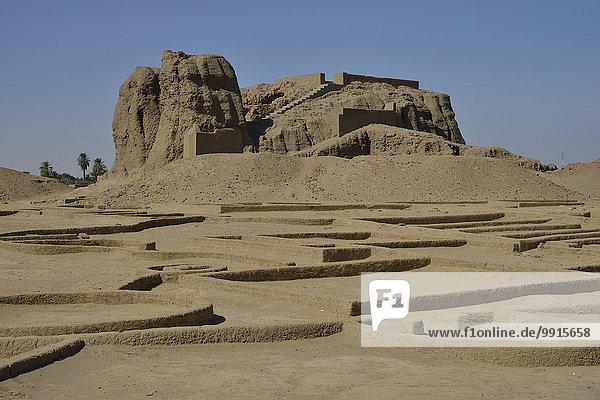 Deffufa  19 Meter hoher Backsteinbau  antike Stadt Kerma  Bundesstaat asch-Schamaliyya  Nubien  Niltal  Sudan  Afrika