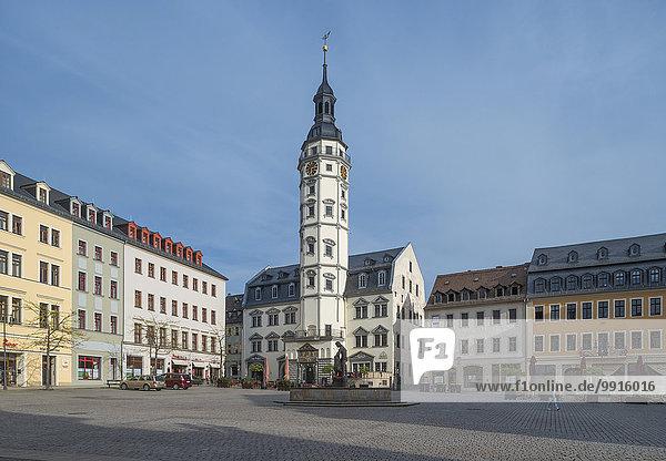 Marktplatz mit Rathaus  1575  Gera  Thüringen  Deutschland  Europa