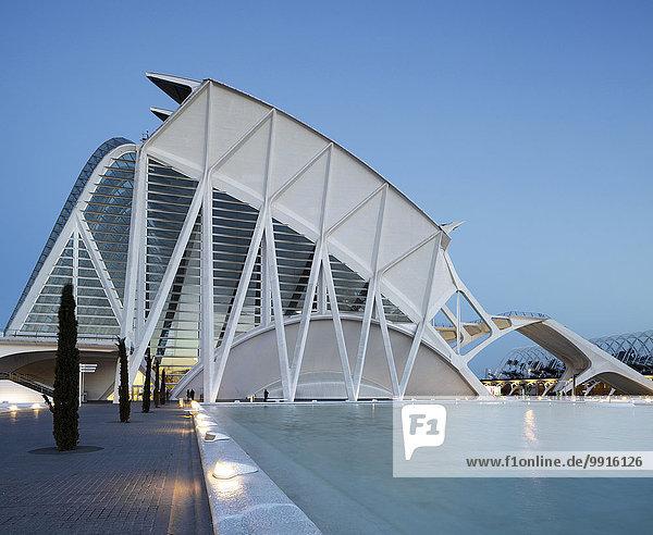 Museu de les Ciencies Príncipe Felipe Wissenschaftsmuseum  Stadt der Künste und Wissenschaften  Valencia  Spanien  Europa