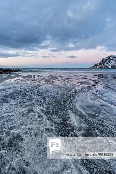 Strand  Skagsanden  Lofoten  Norwegen  Europa