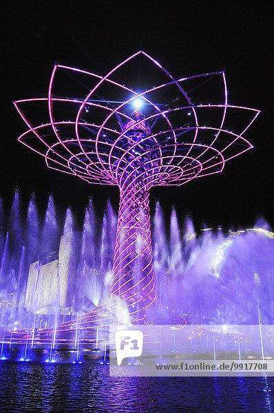 Italien  Lombardei  Mailand  EXPO 2015  Baum des Lebens