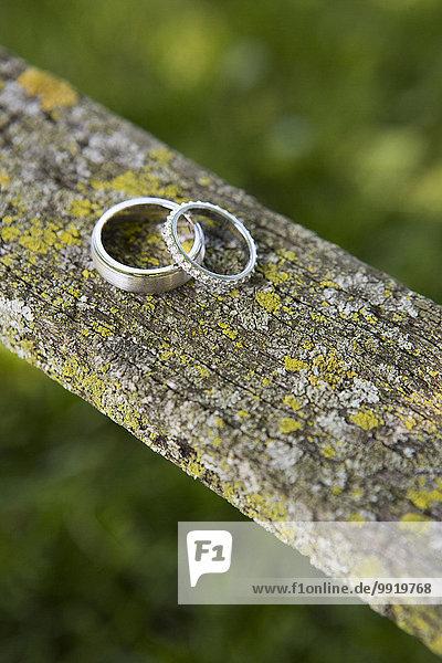 bedecken Hochzeit Holz Close-up Flechte Flechten Stück