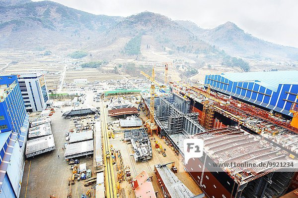 Seehafen  erhöhte Ansicht  GoSeong-gun  Südkorea