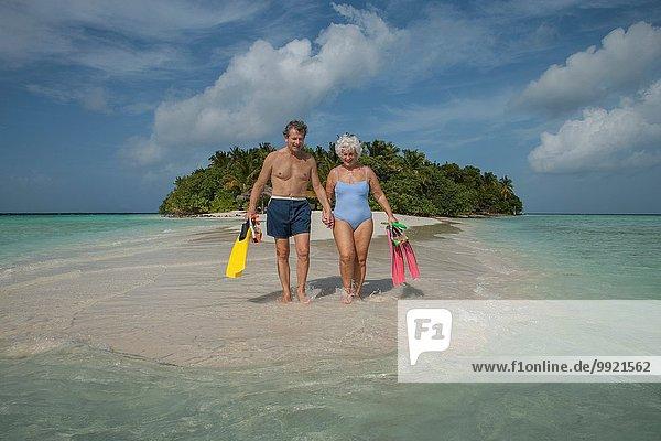 Senior couple on holiday  Maldives