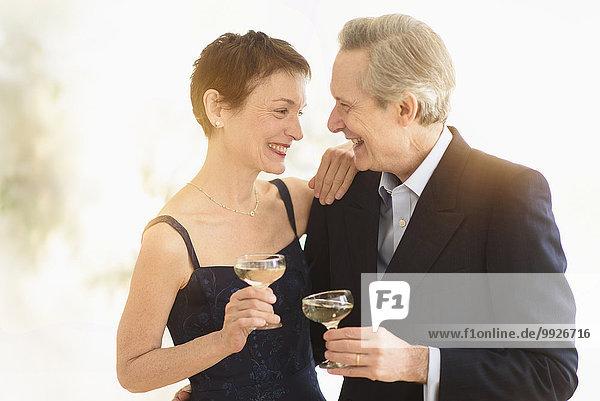 Senior Senioren Fest festlich Eleganz Jubiläum Toastbrot Champagner