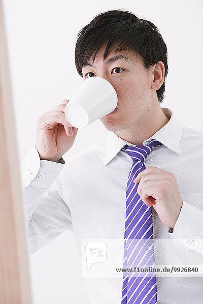 Geschäftsmann trinken Kaffee