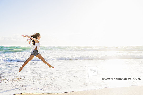 Frau Strand springen Frau,Strand,springen