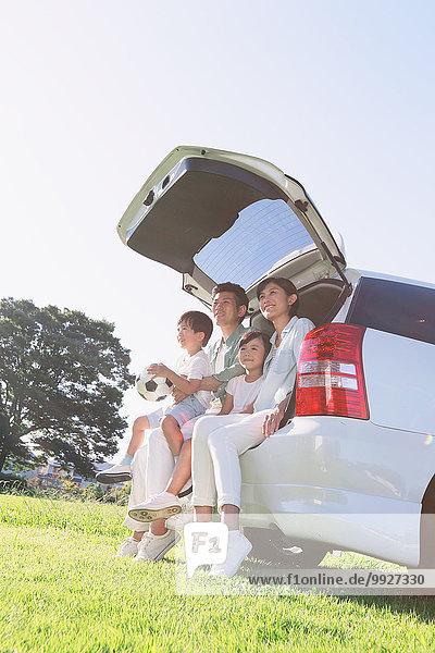 Fröhlichkeit Auto Großstadt japanisch