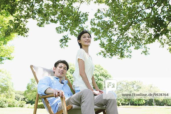 Fröhlichkeit Stuhl Terrasse japanisch