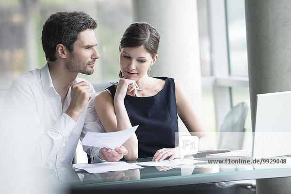 Brainstorming von Geschäftspartnern