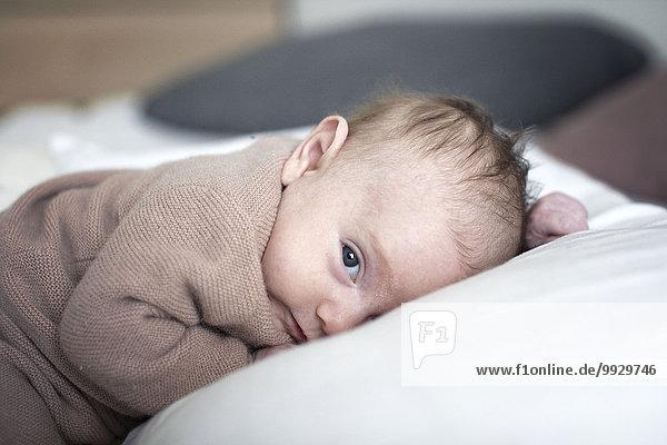 Neugeborenes Baby liegend  Portrait Neugeborenes Baby liegend, Portrait