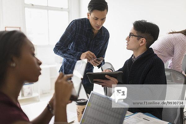 benutzen Mensch Technologie Büro Menschen Business
