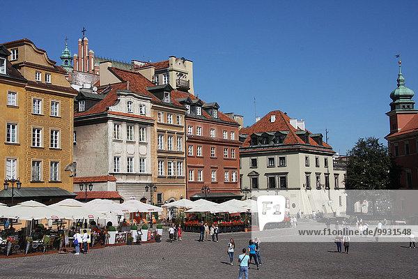 Warschau Hauptstadt Europa Palast Schloß Schlösser Altstadt UNESCO-Welterbe Polen