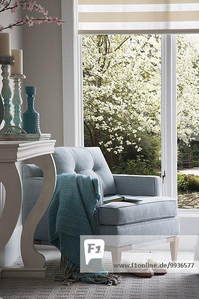 Fenster,Sessel,Dekoration,türkis