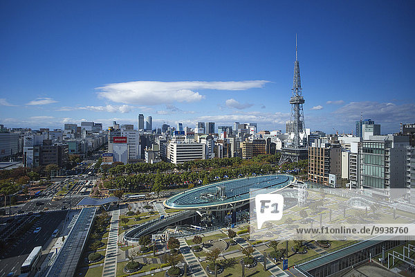 Stadtansicht Stadtansichten Skyline Skylines niemand Reise Großstadt Architektur Turm bunt Quadrat Quadrate quadratisch quadratisches quadratischer Tourismus Aichi Asien Ortsteil Innenstadt Japan Nagoya