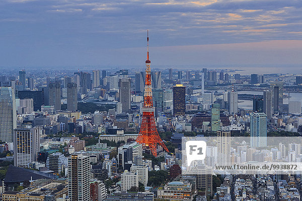 Panorama Skyline Skylines Landschaft niemand Reise Großstadt Tokyo Hauptstadt Architektur bunt Hochhaus Beleuchtung Licht Tourismus Roppongi Asien Japan