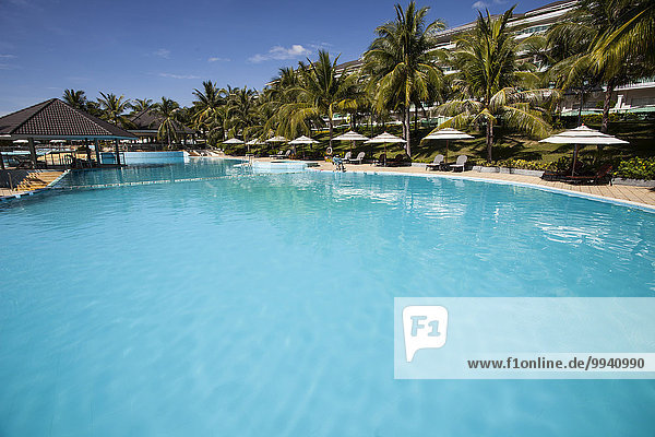 sternförmig Urlaub 5 Reise Hotel Meer Beleuchtung Licht Reichtum Schwimmbad Verbindung Asien Tourismus Vietnam