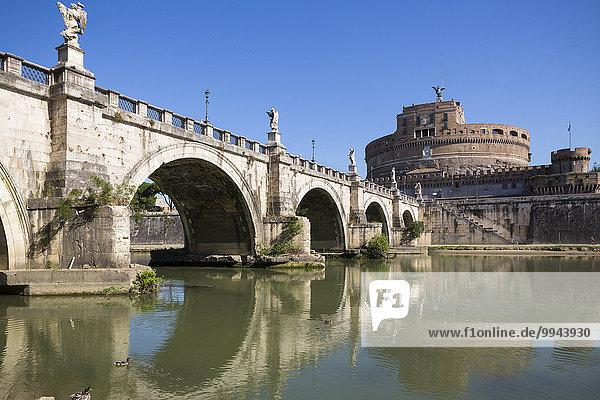 'Castel Sant'Angelo Brücke  Rom  Latium  Italien  Europa'