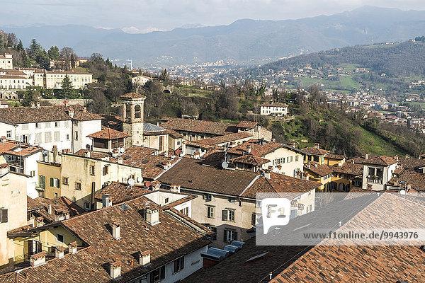 Stadtansicht  Bergamo  Lombardei  Italien  Europa