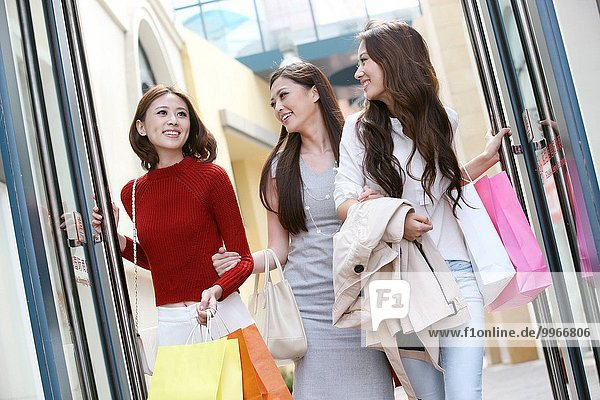 Oriental woman shopping