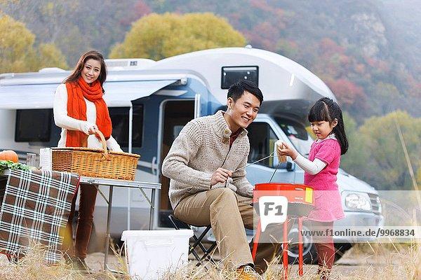 Picknick, Menschliche Eltern, Außenaufnahme, Tochter