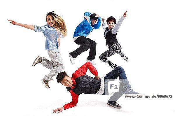Kälte Mensch Menschen tanzen jung Modellbau