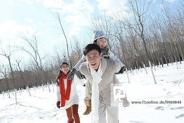 rennen 3 Schnee