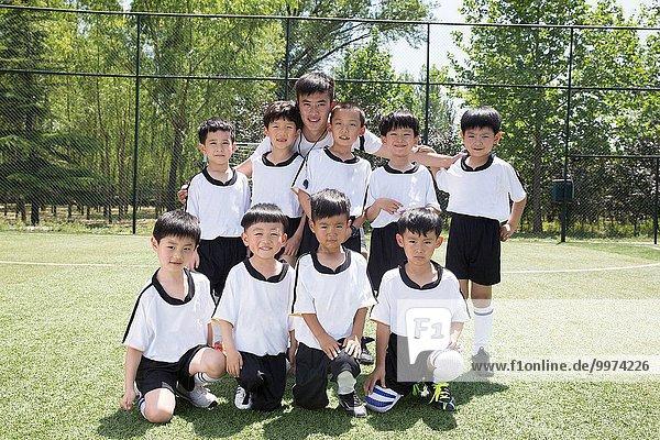 Junge - Person Feld Football
