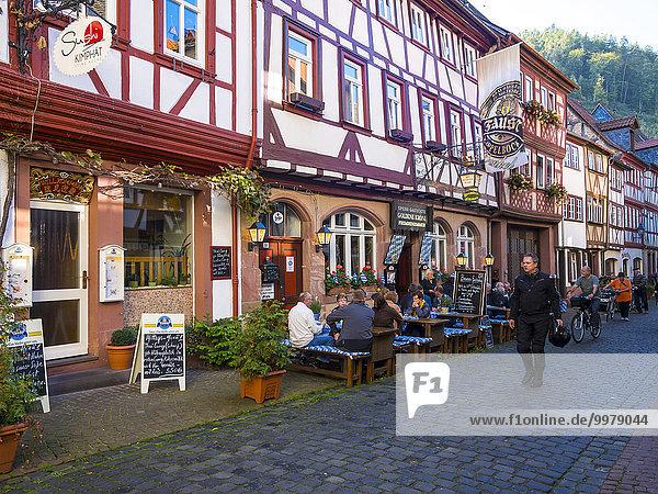 Altstadt mit Fachwerkhäusern  Miltenberg  Franken  Bayern  Deutschland  Europa