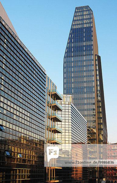Europa  Italien  Lombardei  Mailand  Porta Nuova Bezirk  Architektur zeitgenössischen  diamante Tower  entworfen von Architekt Lee Polisano