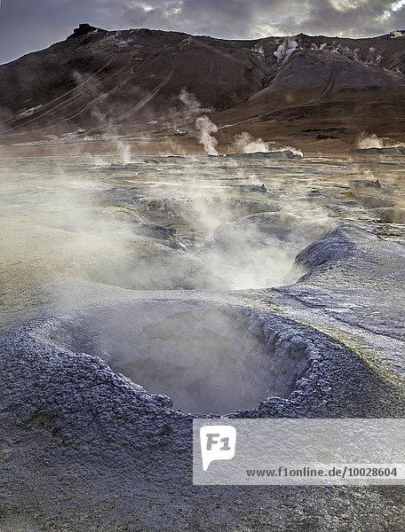 Geothermische Dampfauslässe  Namaskard  Myvatn  Island