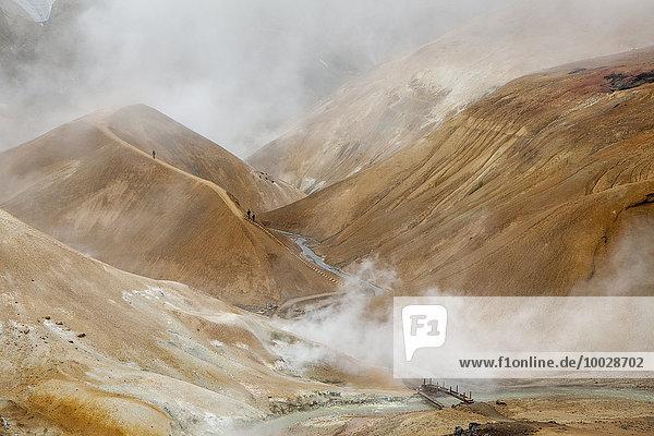 Dampf aus geothermischen Bergen  Kerlingarfjoll  Island