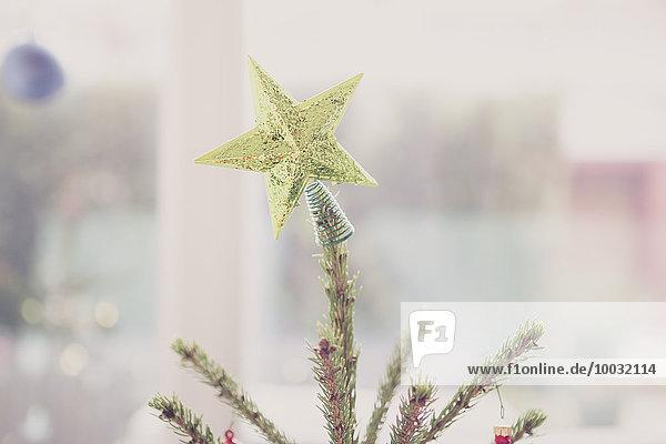 Goldener Stern Weihnachtsbaum-Topper