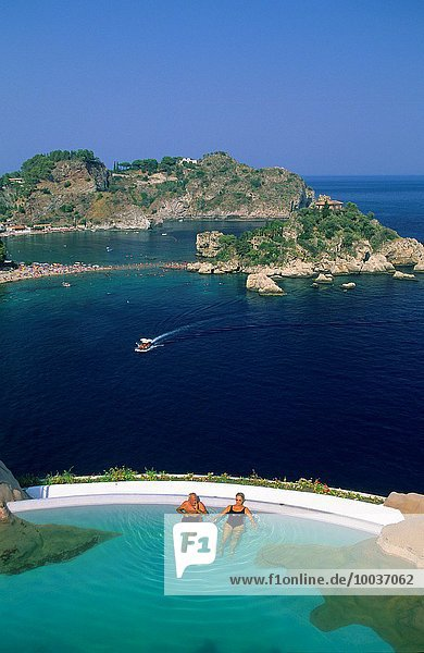 Hotel Schwimmbad Isola Bella Italien Sizilien Taormina