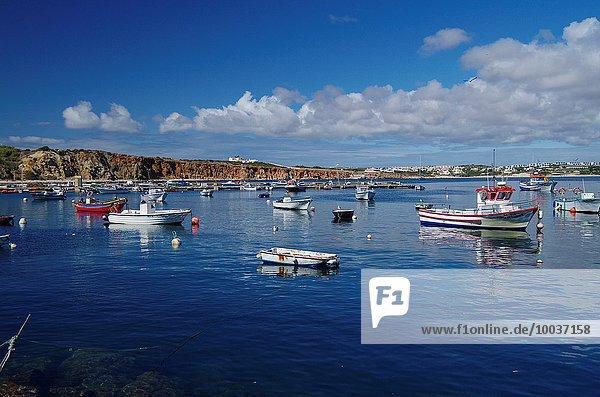 Hafen Boot angeln Algarve Portugal Sagres