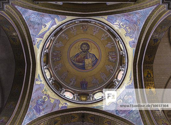 Deckenfresko der Grabeskirche oder Kirche vom heiligen Grab  Jerusalem  Israel  Asien