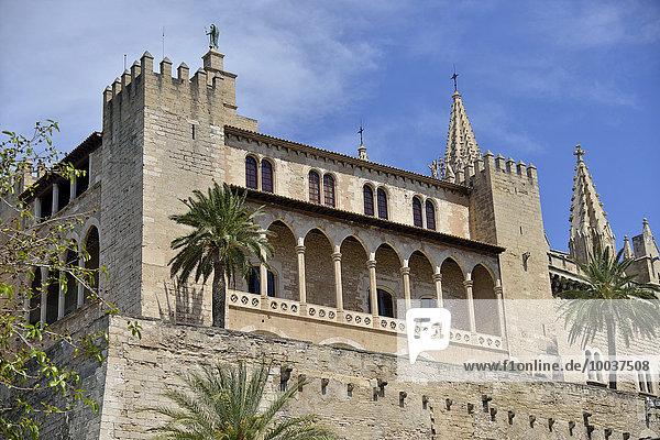 Palacio Real de la Almudaina  Palma de Mallorca  Mallorca  Balearen  Spanien  Europa