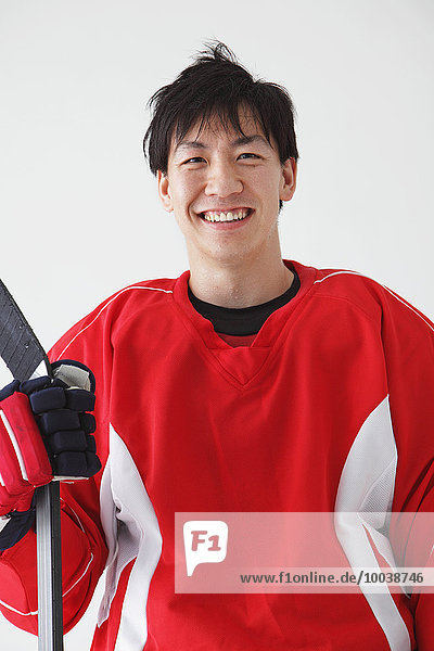 Young Male Ice Hockey Player