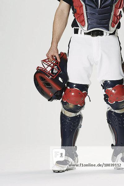 weiß Hintergrund Baseball Baseballfänger catcher