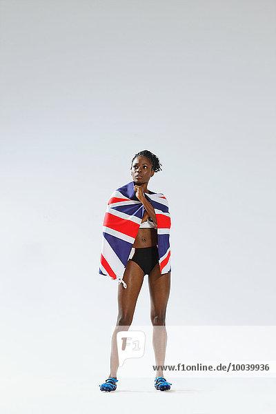 Athlet Fahne Kleidung britisch