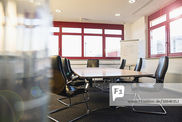 Empty office with conference table  Munich  Bavaria  Germany