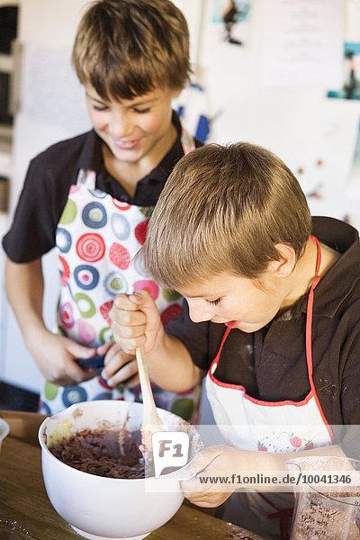 Boys baking